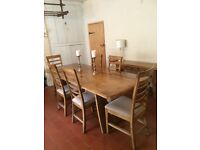 Large dining table 8 chairs and console table
