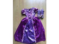 4 Disney princess dresses 5-6yrs