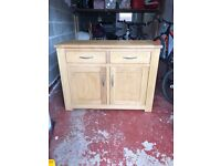 Next solid oak sideboard