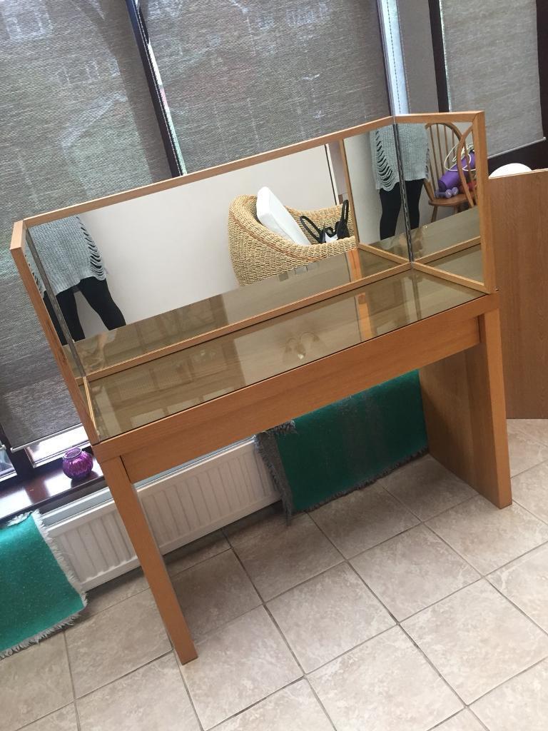IKEA dressing table and mirror oak