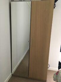 Ikea wardrobe with mirror door