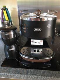 Delonghi Icona Vintage Espresso Coffee Machine + Grinder