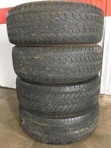 Set of 265/65R17 all season tires