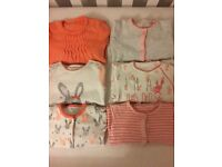Next Baby girl sleepsuits up to 3 Months set of 6 items!!