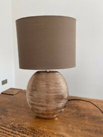 Bronze brown textured table lamp