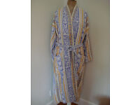 New ladies 100% cotton dressing gown, size large