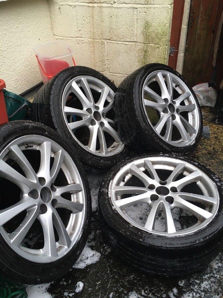18 inch 5+114 Lexus alloy wheels