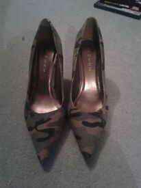 NEXT size 5.5 camo heels brand new