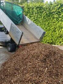 Wood chip mulch Chippings beds borders pathsa