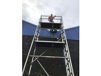 Boss massive 8.2 double width alloy scaffold tower
