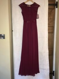 Coast Ionia Maxi Dress - Merlot. Brand new with tags - size 8 - 2 available