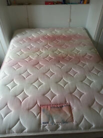 1X Double Bed Frame with Matress - Detachable