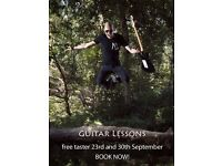 GUITAR LESSONS - Free taster 23rd and 30th Sept BOOK NOW