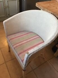 Lloyd loom style chair/commode. Solid but For TLC