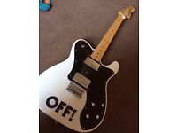 Squier Vintage Modified Deluxe Telecaster Olympic White Seeks Loving Home
