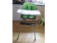 Chicco baby high chair feeding chair