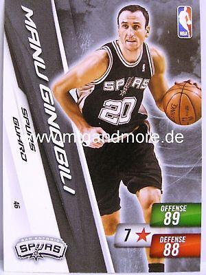 NBA Adrenalyn XL 2011 - Manu Ginobili #046 - Spurs Manu Ginobili Nba