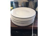 Large Debenhams dinner plates (white)
