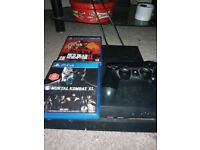 PS4 1 controller 2 games all leads