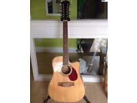 Freshman FA1 DC12 electro acoustic 12 string guitar