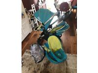 ICandy Peach 2 double pram pushchair buggy stroller