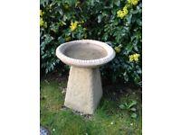 Old style Staddle stone bird bath £32