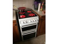 Electric cooker fan oven ceramic hob