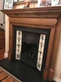 Victorian Style Gas Fire & Slate Hearth