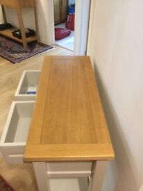 Nearly New Light Solid Oak Console Table