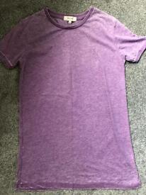 River island burnout tshirt purple xxs