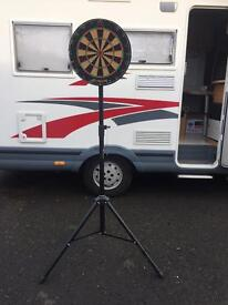 Dart board with stand