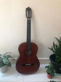 Left handed acoustic guitar ASHTON CG44 LAM