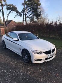 BMW 4 series white m sport x drive 420d