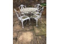FREE - garden table and 4 chairs but you must collect- Chiswick, London W4