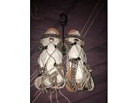 Women's U.K. size 9 New Look real leather gold sandals