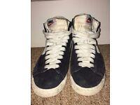 Black Nike Blazers - Hi Suede Vintage Trainers