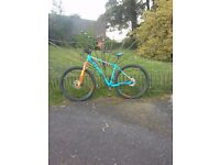 """Cube Acid Mountain Bike 19"""" Frame 29"""" Wheels as Brand New / Stunning Orange and Blue. Perfect Cond."""