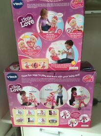 Vtech little love Baby Talk doll and Little Love 3 in 1 pushchair in boxes Price for Both