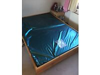 Water bed complete. King size 7ft x 5ft 214cm x 152cm. Mattress (bladder) 2 years old.