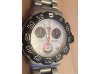 2009 Tag Heuer F1 Chronograph CAC1111-0 on stainless steel bracelet.