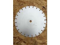 300mm, 20mm-bore, brand new diamond stone-cutting blade - £30.