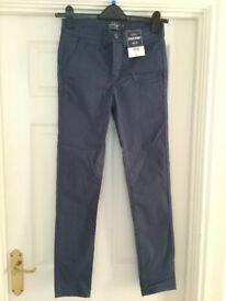 Brand new, unworn Top Man blue skinny stretch chinos