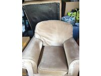 an arm chair and a 2 seater sofa
