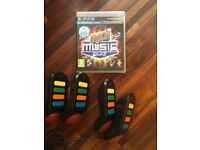 Buzz Ultimate Music quiz game plus 4 buzzer controllers for PS3