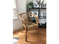 Boho rattan chair/wicker chair made from bamboo