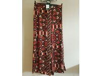 Womens H&M african patterned lightweight trousers size 12 bnwt
