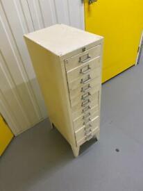 Filing cabinet - white metal