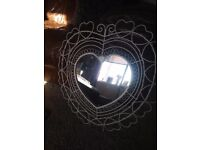Pretty heart mirror