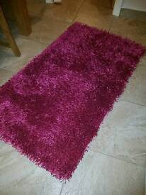 Fuschis pink rug and matching cushions