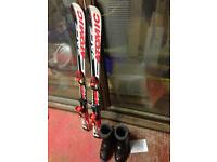 Kids Atomic Skis and Dalbello Ski boots